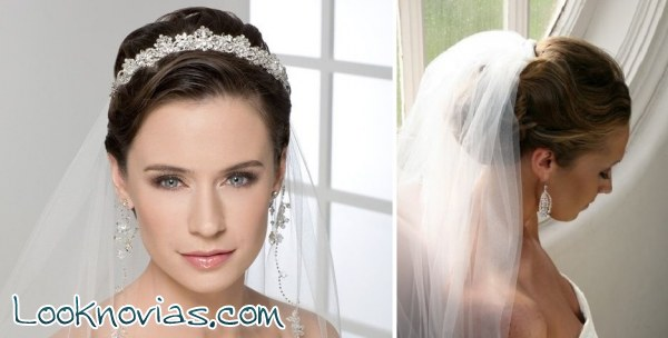 peinados para novia con velo - Peinados De Novia Con Velo