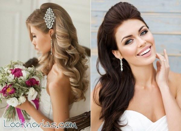 4 peinados para novia naturales y sencillos
