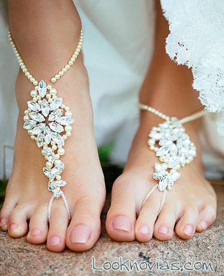 pulsera de brillantes para pies