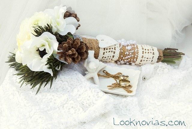 ramo de novia con estilo rústico