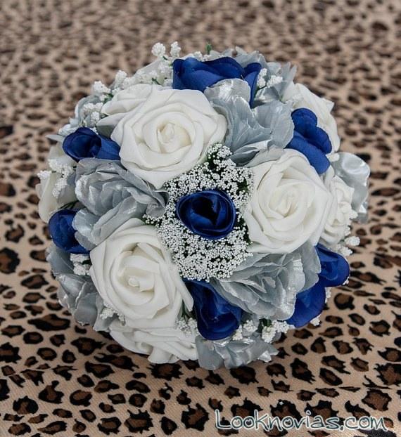 ramo de novia en azul