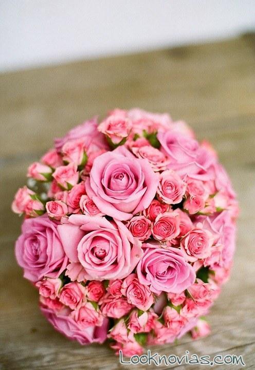 ramos bouquets en color rosa