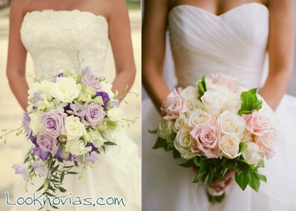 Espectaculares ramos para novia con rosas