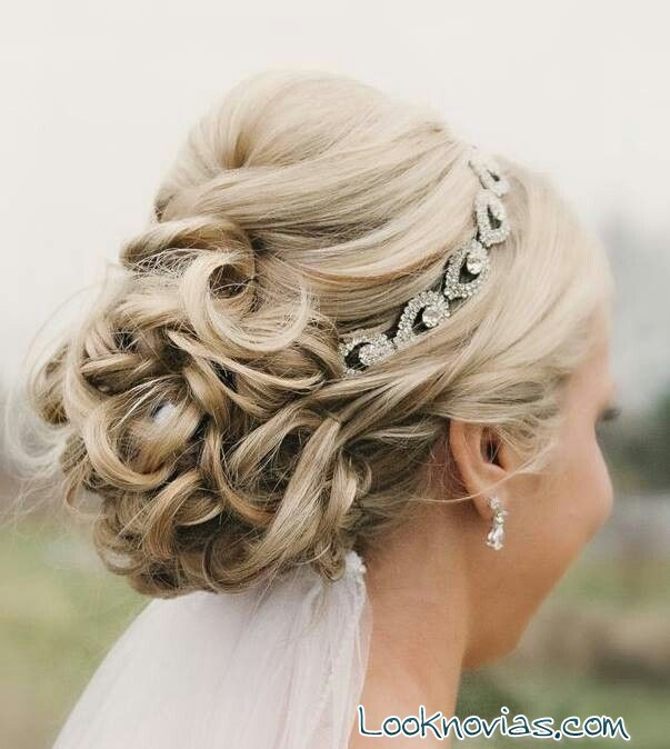 Peinados para novia con velo - Fotos de recogidos bajos ...