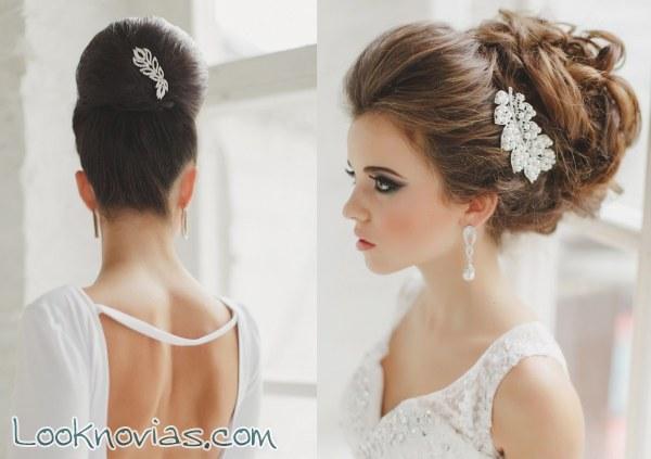 Para las novias modernas, peinados originales
