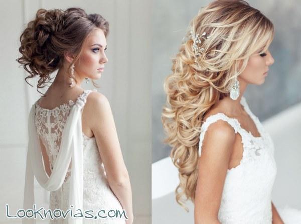 Incre bles peinados para novia en los que inspirarte for Recogidos altos para novias