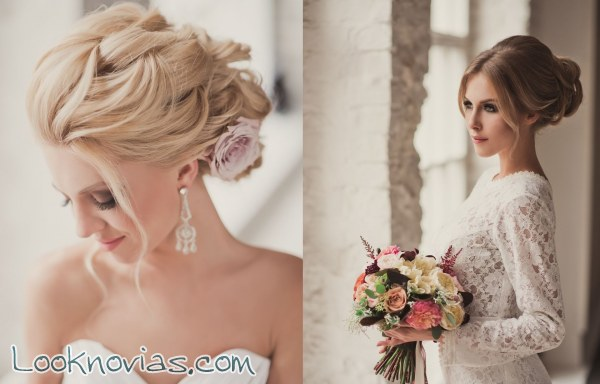 Peinados y recogidos románticos para novias
