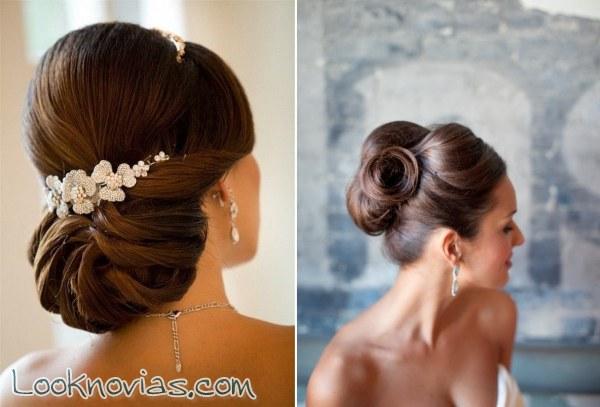 Peinado de novia recogido elegante
