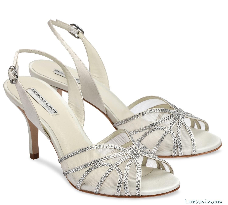 sandalias de novia benjamin adams