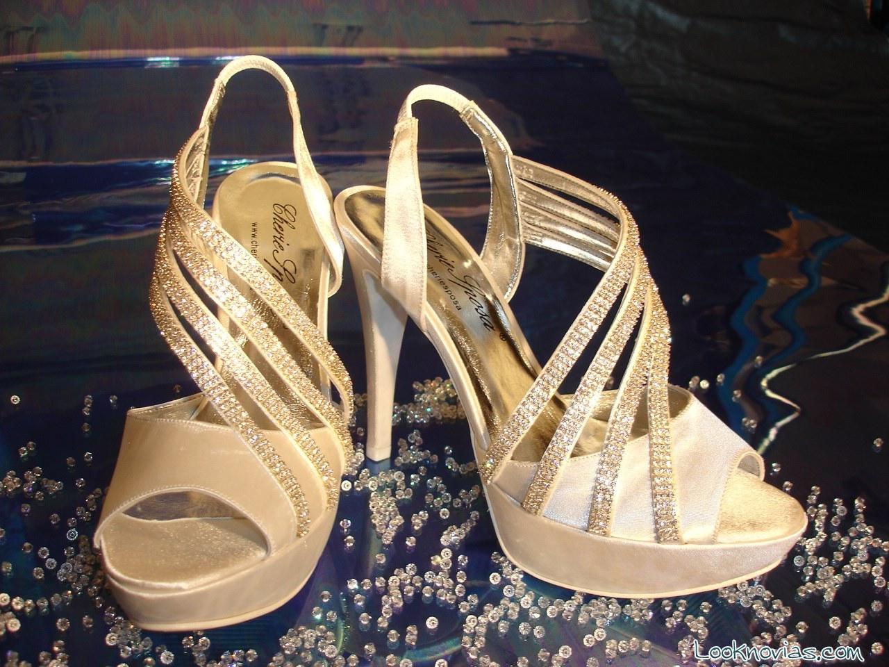 sandalias de novia elegantes