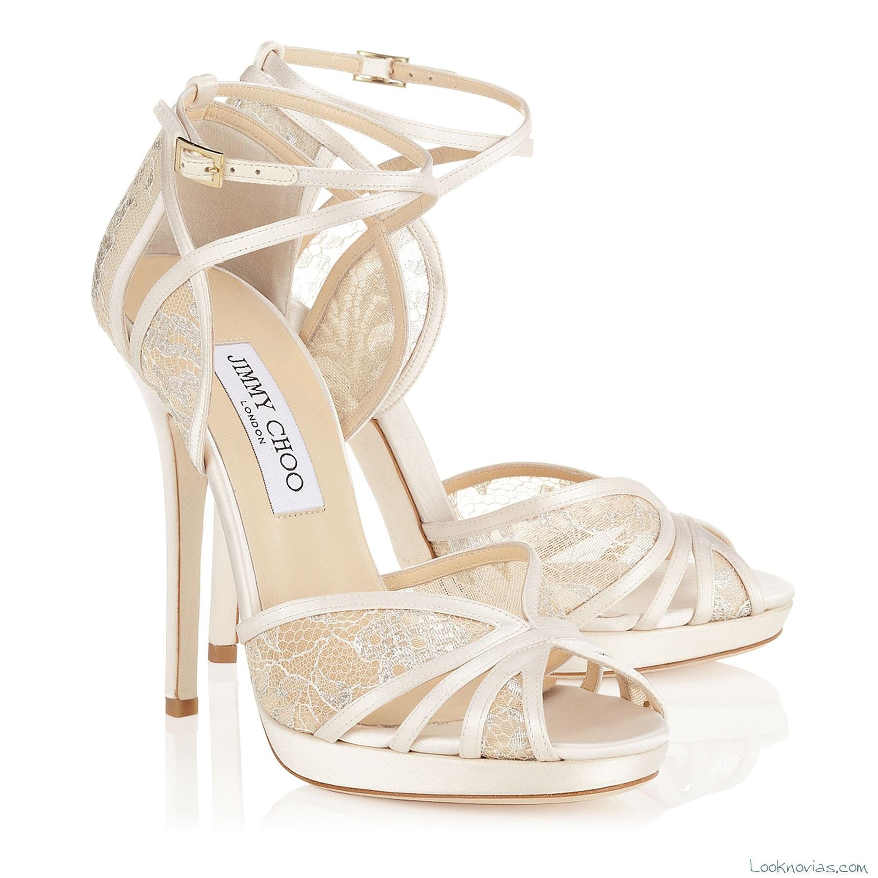 sandalias de tiras para novia por jimmy choo