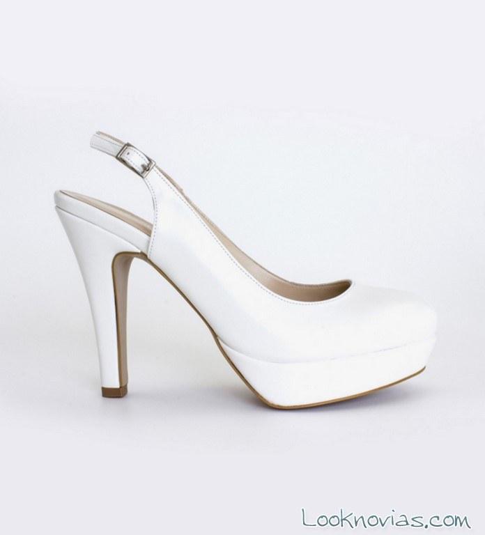 sandalias destalonadas para novia