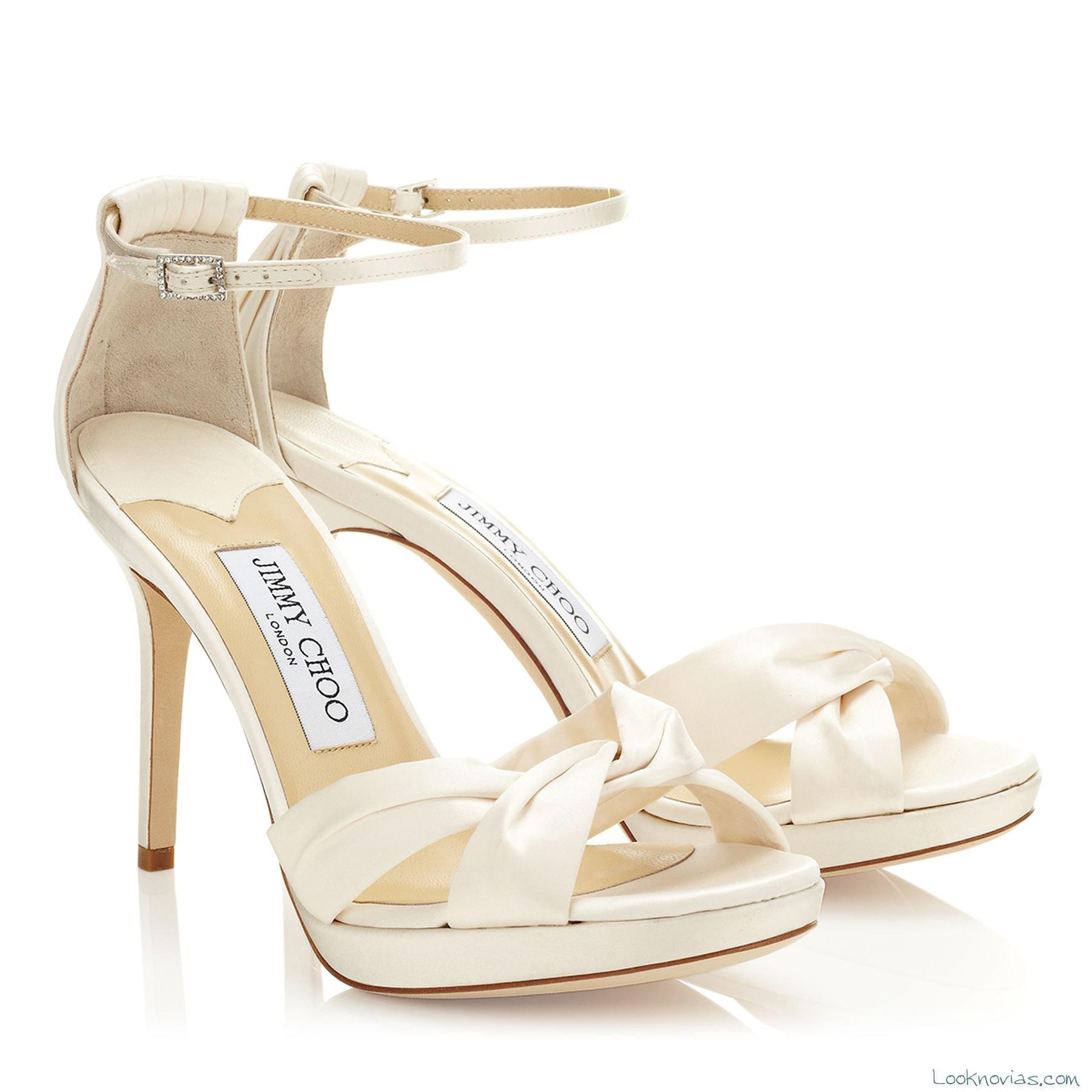 sandalias modernas para novias