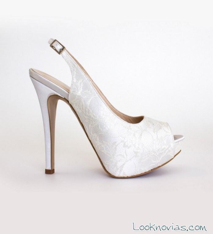 sandalias para novia nicole spose