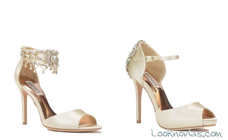 sandalias y zapatos para novia badgley mischka