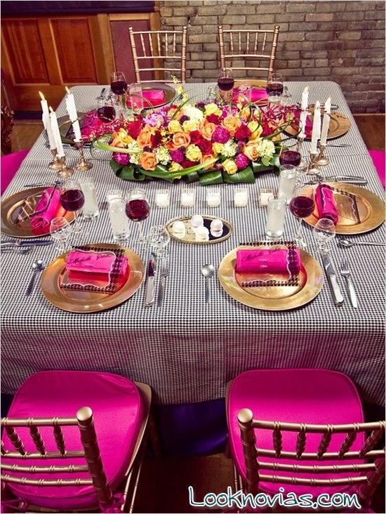 servilletas en rosa para boda