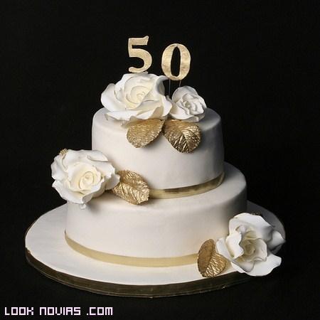 tarta nupcial 50 años