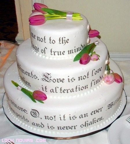 Tartas de boda con mensajes