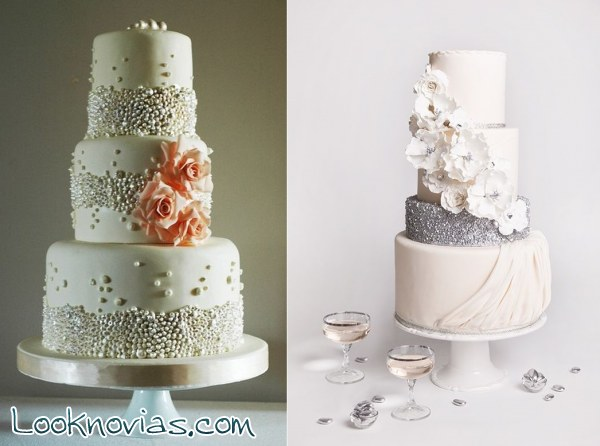 tartas de boda en color blanco