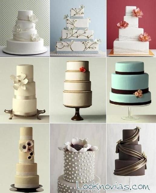 Pasteles de boda modernos con los que inspirarte