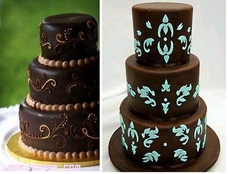 Tartas nupciales de chocolate