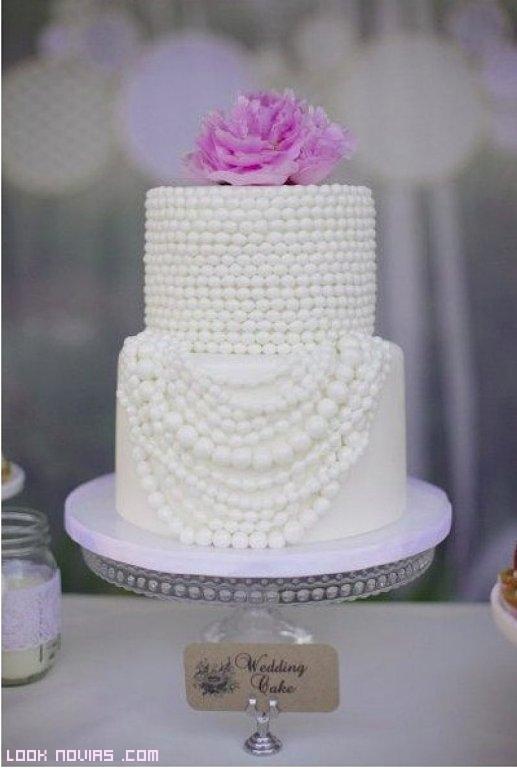 tartas decoradas con perlas de fondant