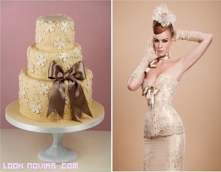 Tartas inspiradas en tu vestido de novia