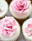 Cupcakes románticos para tu boda