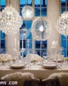 Decoración de bodas con cristal