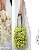 Ramos de novia con forma de bolso