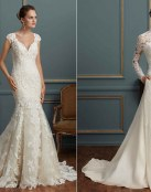 Vestidos rectos y elegantes de Amare Couture Bridal