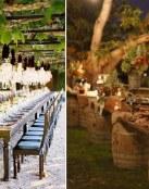 Buffet y mesas de boda al aire libre