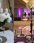 Decoración de mesas con candelabros