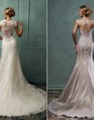 Espectaculares escotes en la espalda para novias románticas