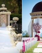Lugares preciosos decorados para la boda