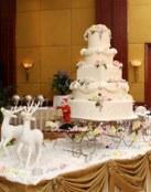 Tartas de boda con motivos navideños