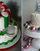 Pasteles de boda navideños