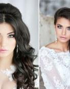 Cabello suelto para novia y maquillaje muy romántico