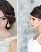 Impresionantes peinados y maquillaje de novia