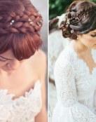 Peinados de novia con trenzas diadema