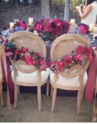 Decora las sillas de tu boda con rosas