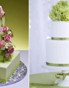 Tartas de boda en color verde