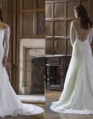 El escote barco protagonista de estos vestidos para novia