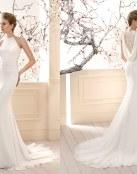 Vestidos rectos para deslumbrar en tu boda