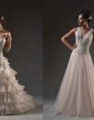 La esencia nupcial y de moda en forma de vestidos