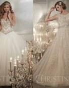 El glamour y el brillo en los vestidos de Christina Wu
