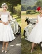 Una colección de vestidos cortos con estilo vintage