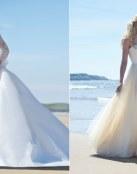 Vestidos para boda muy romántica y sencilla