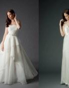 Para las novias más sencillas, vestidos delicados y románticos