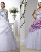 ¿Te gustan los vestidos de novia en color?